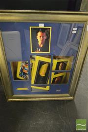 Sale 8214 - Lot 2077 - Lance Armstrong, Framed Collage w Signature