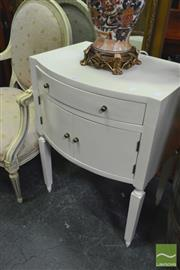 Sale 8328 - Lot 1027 - Pair of Cream Bedside Tables