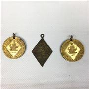 Sale 8445A - Lot 43 - Memo of Egypt Pendant & 2 Queen Victoria 60th Year of Reign Pendants