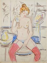 Sale 8504 - Lot 527 - Attributed to Salvatore Zofrea (1946 - ) - Untitled (Nude and Mirror) 175.5 x 132cm