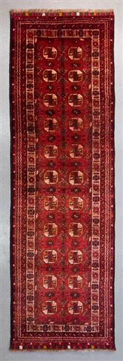 Sale 8499C - Lot 53 - Afghan Qunduzi Runner 300cm x 80cm