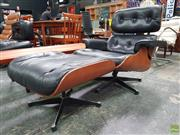 Sale 8585 - Lot 1049 - Vintage Eames Style Lounge Chair & Ottoman, possibly an Australian example