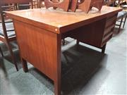 Sale 8741 - Lot 1017 - 1960s Danish Teak Knee Hole Desk