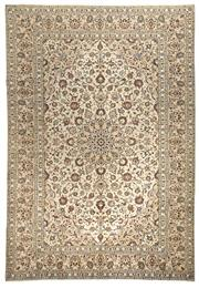 Sale 8780C - Lot 214 - A Fine Persian Isfahan From Isfahan Region Cream Colour 100%Very Fine Wool Pile On Cotton Foundation, 350 x 242cm