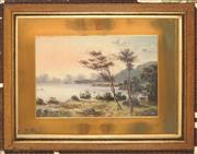 Sale 8992 - Lot 557 - Charles F. Gerrard (1849 - 1904) - Harbour View Scene with Two Figures 29 x 43.5 cm