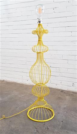 Sale 9102 - Lot 1211 - Modern metal wire form standing lamp (h135cm)