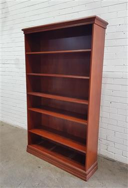 Sale 9134 - Lot 1553 - Timber open bookcase (h188 x w114 x 33cm)