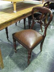 Sale 7937A - Lot 1121 - Set of 4 Victorian Mahogany Balloon Back Dining Chairs