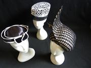 Sale 7982B - Lot 122 - Three monochrome hats