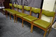 Sale 8115 - Lot 1230 - Set of 6 Retro Dining Chairs