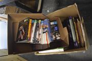 Sale 8189 - Lot 2113 - 2 Boxes of DVDs and Books