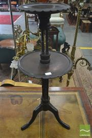 Sale 8267 - Lot 1064 - Unusual Fruitwood Occasional Table, of two graduated tiers on delicate cluster columns