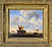 Sale 8394 - Lot 599 - Artist Unknown (XIX) - Nautical Scene 23 x 30.5cm