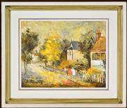 Sale 8394 - Lot 501 - Wilmotte Williams (1916 - 1992) - Colonial Sydney 29 x 36.5cm
