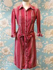 Sale 8474A - Lot 69 - A classic MARCS 100% Cotton shirt dress w bubble pattern,  excellent condition, size 10