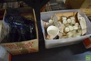 Sale 8530 - Lot 2158 - 2 Boxes of Ceramic Bowls, Tea Light Candles & Various Wine Glasses, Tumblers, etc