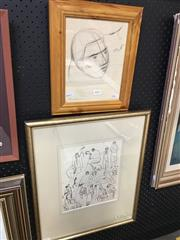 Sale 8678 - Lot 2040 - 2 Bill Coleman ink drawings (framed and various sizes)
