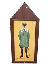 Sale 8809B - Lot 606 - Lothar Von Richthofen. Fighter Pilot Ace & Brother of the Red Baron. Hand Painted Double Sided Wall Plaque., B.R Moss (126 x 57cm)