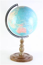 Sale 8894 - Lot 12 - Globe on Timber Stand (H61cm)