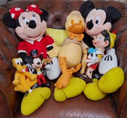 Sale 9103H - Lot 52 - A group lot of Disney toys, some stuffed some plastic.