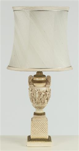 Sale 9099 - Lot 237 - A composite vase based lamp, Total Height 87cm