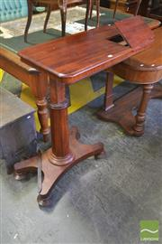 Sale 8255 - Lot 1095 - Victorian Mahogany Adjustable Reading Table, on faceted column and quadraform base