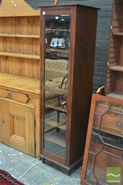 Sale 8291 - Lot 1053 - Walnut Cabinet, with glass panel door, adapted from a Victorian cabinet