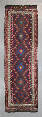 Sale 8499C - Lot 55 - Persian Sumak Runner 213cm x 69cm