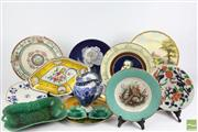 Sale 8521 - Lot 30 - Cabinet Plate Collection Together With Other Ceramics incl Doulton, Copenhagen And Wedgwood Leaf Tray