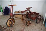 Sale 8825A - Lot 84 - Vintage childs trike and trailer