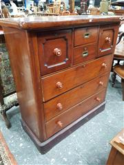 Sale 8848 - Lot 1092 - Late 19th Century Cedar Chest of Drawers, with two short, two deep and three long drawers, on plinth base