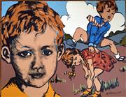 Sale 8859A - Lot 5036 - David Bromley (1964 - ) - Leapfrog 56.5 x 73.5cm