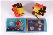 Sale 9035M - Lot 831 - Royal Australian Mint 2003 Australias Volunteers six coin proof set together with six Fire Engines of the World Silver coins