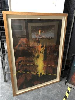 Sale 9163 - Lot 2028 - Artist Unknown  Mount Etna, 2007, lithograph, frame: 129 x 93 cm, unsigned, dated and titled verso -