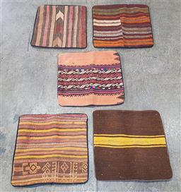 Sale 9188 - Lot 1213 - Collection of five Persian hand knotted pure wool cushion covers (40 x 40cm)