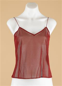 Sale 9250F - Lot 82 - A Christian Dior, rogue spaghetti strap singlet, size 40, new with tags.