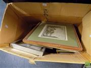 Sale 8474 - Lot 2069 - Box of Assorted Artworks including original watercolours and decorative print (framed/various sizes)