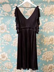Sale 8474A - Lot 71 - A chic David Lawrence black dress with open flutter sleeves, new with tags, size 8