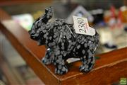 Sale 8563T - Lot 2380 - Elephant Carved from Snowflake Obsidian