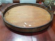 Sale 8740 - Lot 1091 - Large Wicker Round Tray (Diameter: 74cm)
