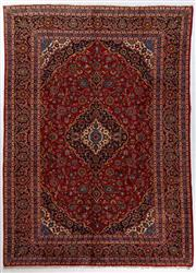 Sale 8760C - Lot 12 - A Persian Kashan From Isfahan Region 100% Wool Pile On Cotton Foundation, 405 x 290cm