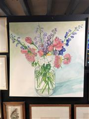 Sale 8845 - Lot 2085 - Hamish Palmer - Spring Bouquet acrylic on canvas, 100 x 101.5cm, signed lower centre
