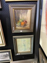 Sale 8891 - Lot 2010 - Group of (3) works by N Zwoinarski Country Cottage; Still Life; Bird oil paintings, framed/various sizes