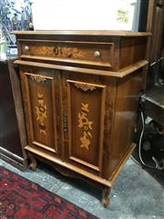 Sale 8893 - Lot 1059 - Inlayed 2 Door Pot Cupboard with Single Drawer
