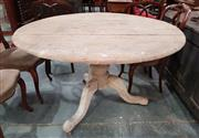 Sale 8939 - Lot 1097 - Victorian Rustic Elm Supper Table, with circular top & turned pedestal. H: 76, D: 120cm