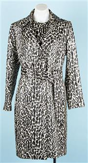 Sale 9083F - Lot 12 - A CARLA ZAMPATTI MATCHING COAT AND DRESS; sleeveless dress with deep cut arm holes and highish neck line, concealed back zip, coat h...