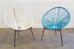 Sale 9102 - Lot 1292 - Pair of Acapulco chairs (h89cm)