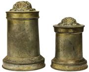 Sale 8050B - Lot 38 - Victorian Pewter Graduated Pair of Jelly Moulds