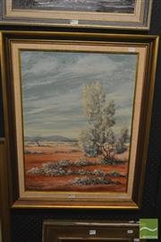Sale 8250C - Lot 2038 - Roy Guadry, Country Landscape, oil on canvas board, 60 x 44cm, signed and dated lower left