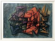 Sale 8297A - Lot 17 - Dora Chapman (1911 - 1965) - Abstract Composition I 18.5 x 26cm